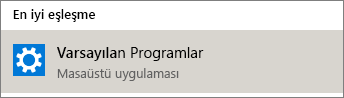 Windows'da varsayılan programlar