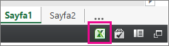Excel Online'da Excel simgesi