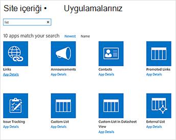Site içeriğini görüntüsü kişinin bir uygulama sayfası ekleme