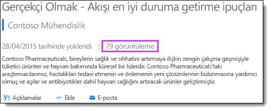 Office 365 video Istatistikleri görünümleri