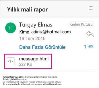 1 iOS için Outlook OME Görüntüleyicisi