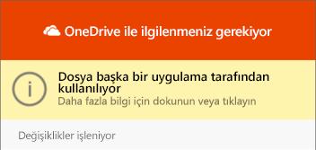 """OneDrive """"dosya kullanımda"""" iletişim kutusu"""