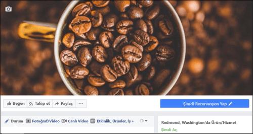 Ekran görüntüsü: Facebook sayfasına bağlandıktan sonra Microsoft Bookings.