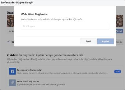Ekran görüntüsü: kayıt sayfası URL 'sini yapıştırma