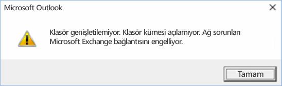 Outlook 2016 hatası: Klasör genişletilemiyor