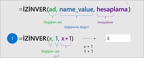 Excel'de ATA işlevini gösterir