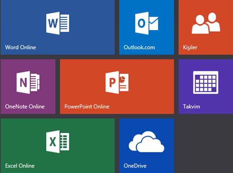 Office.com başlangıç ekranı