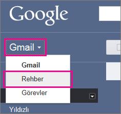 google gmail - kişileri tıklatın