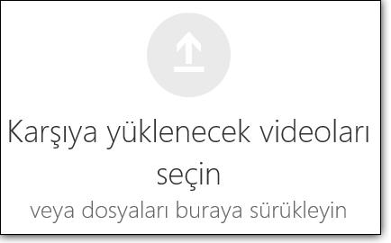 Office 365 Video yüklenecek videoları seçin