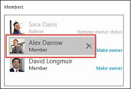 Remove a member