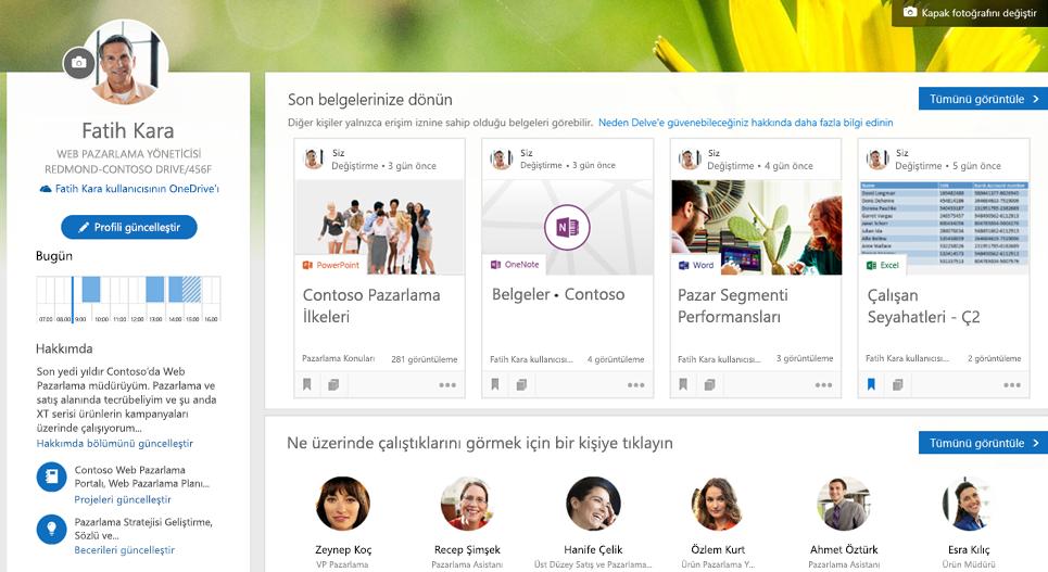 Profil sayfanızdan çalışmanıza geçiş