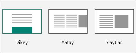 Sway düzen küçük resimlerinin ekran görüntüsü.
