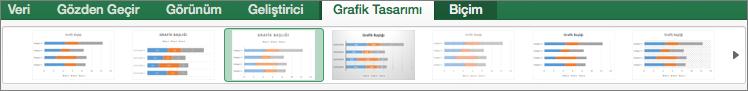 Grafik Tasarımı sekmesinde bir grafik biçimi seçin