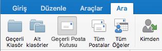 Geçerli posta kutusunda ara