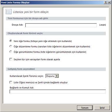SharePoint Designer'da Tüm Dosyalar