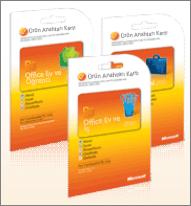 Office 2010 ürün anahtarı kartı.