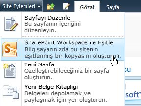 SharePoint Workspace ile Eşitle