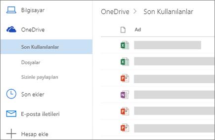 Web üzerinde Outlook'ta dosya paylaşma