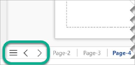 Visio 'da diyagramlar için birden çok sayfa gösterir