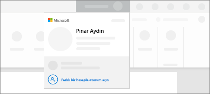 Hesap değiştirme özelliğinin kavramsal ekran görüntüsü