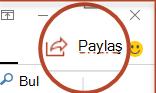 PowerPoint 2016'daki Paylaş düğmesi