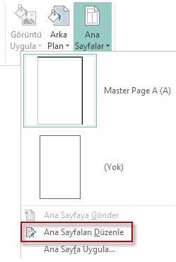 Publisher 2013'te Ana Sayfalarınızı Düzenleme.