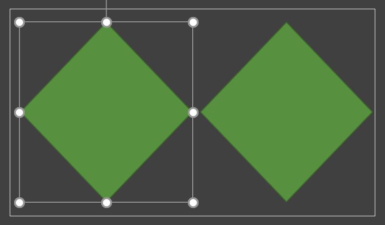 Şekiller ve bağlayıcı çizgileri gösteren resim.