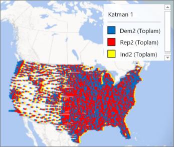 Gösterge içeren harita