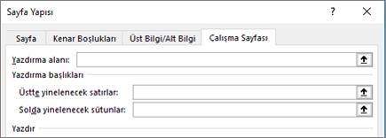 Sayfa Yapısı iletişim kutusundaki Sayfa sekmesi