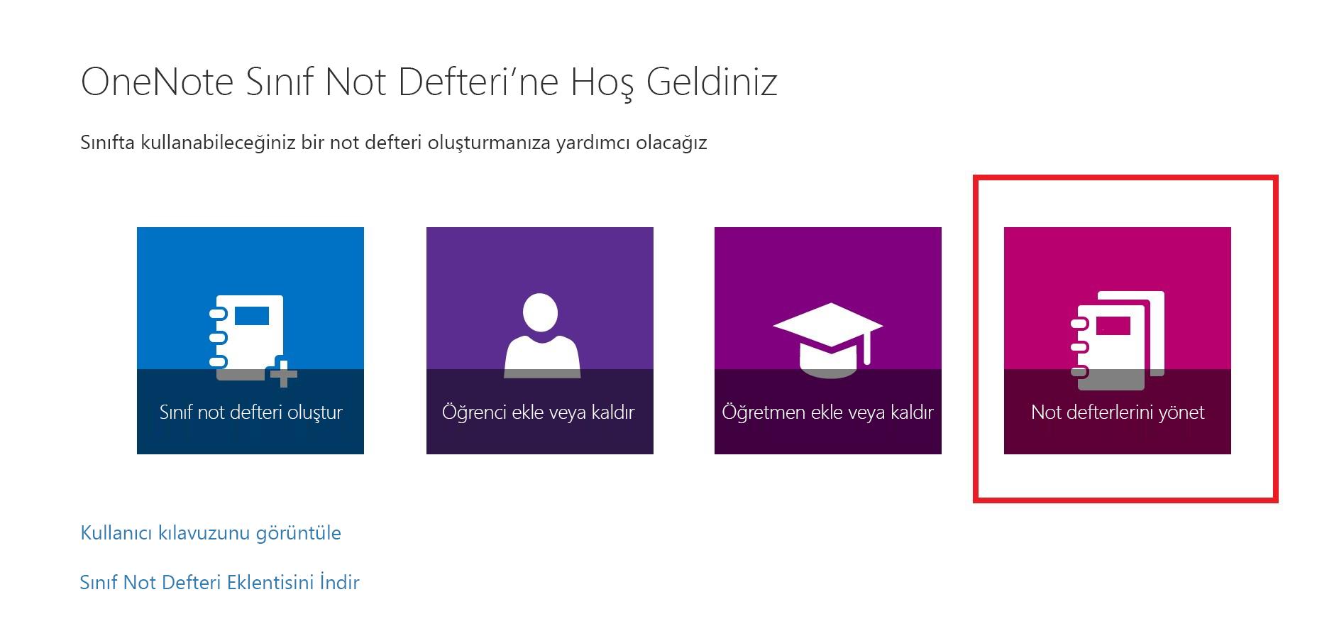 Not Defteri Listeleri simgesinin ekran görüntüsü.