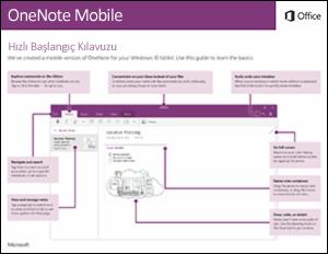 OneNote Mobile Hızlı Başlangıç Kılavuzu