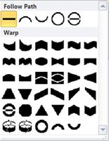 Publisher 2010'da WordArt şekillerini değiştirme seçenekleri