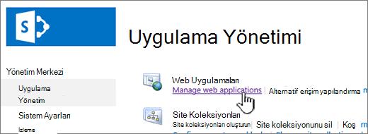 Web uygulama ayarlarını açma