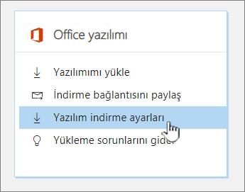 Office yazılım yazılımı Indirme ayarları