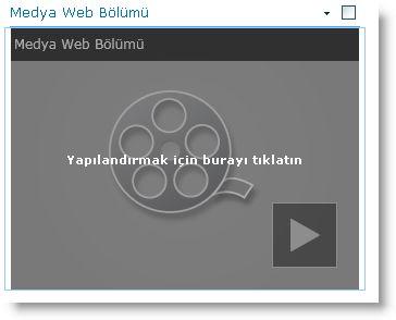 Yeni eklenmiş Medya Web Bölümü