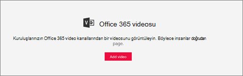 Office 365 Video web bölümü