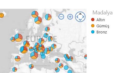 İstediğiniz şekilde sıralanmış Harita görselleştirmesi