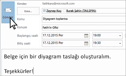 Yüz yüze e-posta daveti gönderme