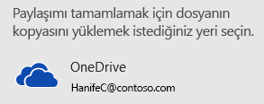 Sununuzu OneDrive veya SharePoint'e kaydetmediyseniz, PowerPoint sizden bunu yapmanızı ister.