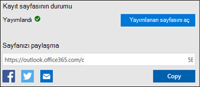 Ekran görüntüsü: kayıt sayfanızdan URL 'yi kopyalama