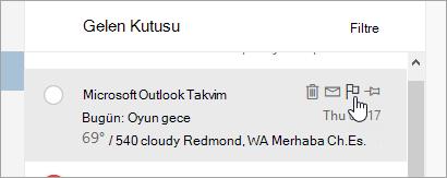 İleti listesindeki bayrak seçeneğinin ekran görüntüsü