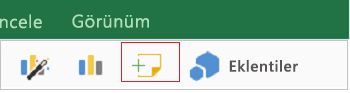 İPad için Excel'de açıklama ekleme