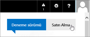 Office 365 deneme sürümünüzü satın alma düğmesi