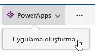 Uygulama PowerApps tıklattıktan sonra tıklatarak oluşturun.