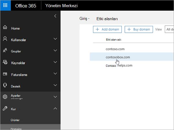 OVH Office 365_C3_20176917563'te etki alanınızı seçin