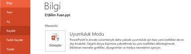 Sunuyu PowerPoint 2010'a dönüştürme
