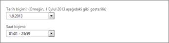 Outlook Web App tarih ve saat biçimi ayarları