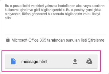 Gmail Android 1 ile OME Görüntüleyicisi