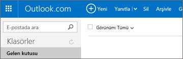 Outlook.com veya Hotmail.com'da şeridin görünüşü