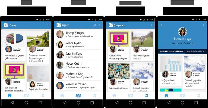 Android için Delve ekranları